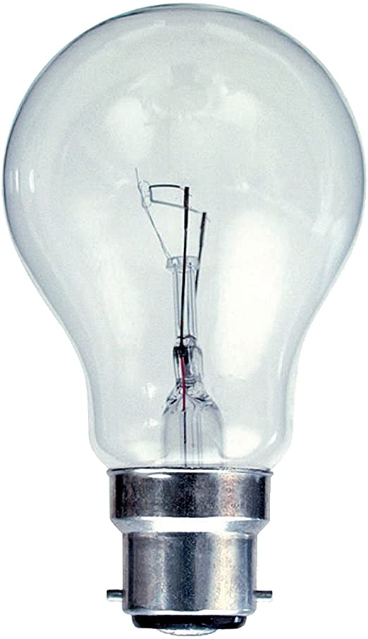 Clear Household GLS Bulb 60W BC or ES Pack of 10 - Beachcomber Lighting