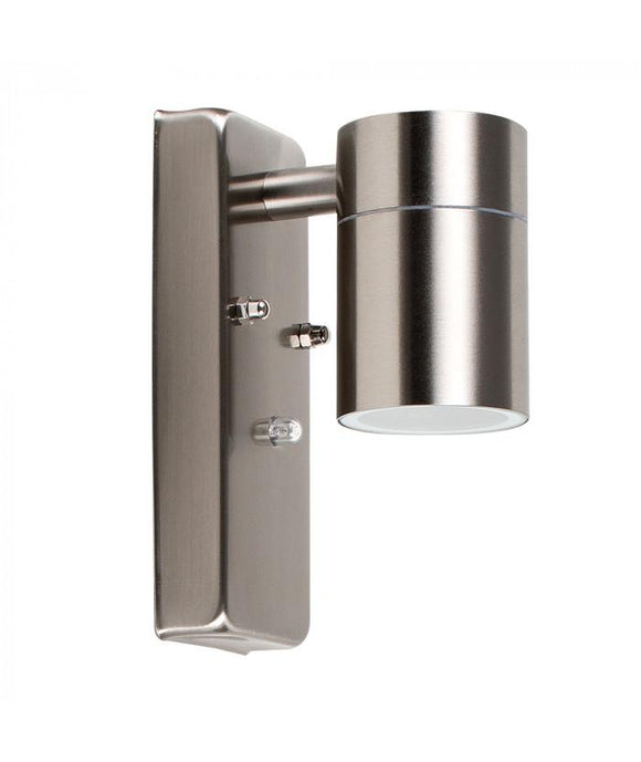 GU10 Down Wall Light Stainless Steel Dusk till Dawn - Beachcomber Lighting