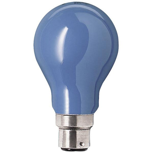 GLS 240v 40w Blue or Green  BC / B22 cap - Beachcomber Lighting