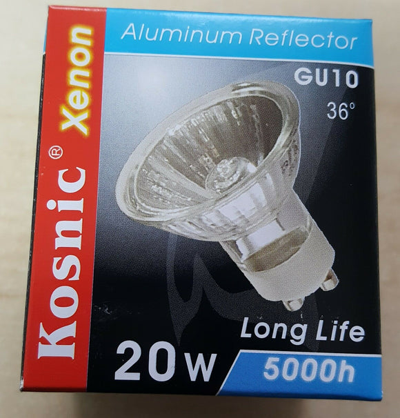 10 X Kosnic GU10 Eco Halogen 20W 5000 hrs Long Life 240 VOLT - Beachcomber Lighting