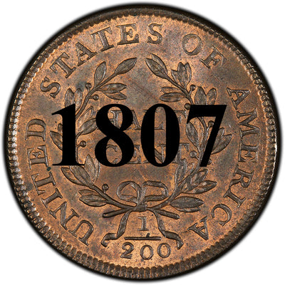 1807 Draped Bust Half Cent