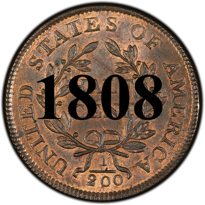 1808 Draped Bust Half Cent