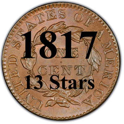 1817 (13-Stars) Coronet Matron Head Large Cent