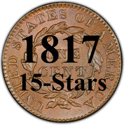 1817 (15 Stars) Coronet Matron Head Large Cent