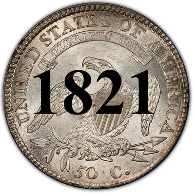 1821 Capped Bust Half Dollar