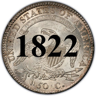 1822 capped Bust Half Dollar