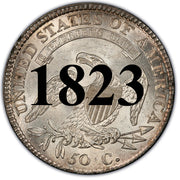 1823 capped Bust Half Dollar