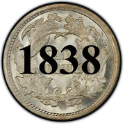 "1838 ""Large Stars"" Seated Half Dime , Type 2 ""Stars on Obverse"""