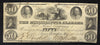 1838 $50 Mississippi & Alabama Railroad , Brandon MS - Uniface - Obsolete Currency -