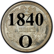 "1840-O ""With Drapery"" Seated Half Dime , Type 2 ""Stars on Obverse"""