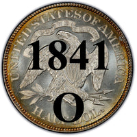 "1841-O Seated Liberty Half Dollar , Type 1 ""Obverse Stars No Motto"""