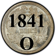 "1841-O Seated Half Dime , Type 2 ""Stars on Obverse"""