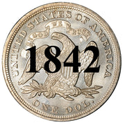 1842 Seated Liberty Dollar