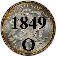 "1849-O Seated Liberty Half Dollar , Type 1 ""Obverse Stars No Motto"""