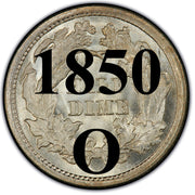 1850-O Seated Liberty Half Dimes