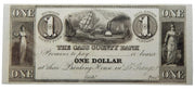 1850's (Circa) $1 Cass County Bank, La Grange. Michigan - Unissued - Obsolete Currency -