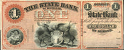 1850's (Circa) $1 State Bank of Detroit, Michigan Demand Note - Unissued - Obsolete Currency -