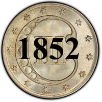 "1852 Three Cent Silver Piece , Type 1 ""Small Star"""