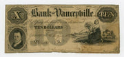 1854 $10 Bank of Yanceville North Carolina -Uniface - Obsolete Currency -