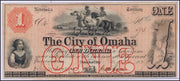 1857 $1 City of Omaha, Nebraska Territory - Obsolete Currency