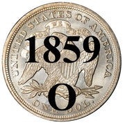 1859-O Seated Liberty Dollar