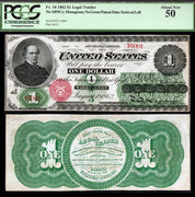 "1862 $1 ""Salmon Chase"" Legal Tender Note"