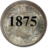 "1875 Seated Liberty Quarter , Type 4 ""In God We Trust"" Motto"
