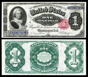 "1891 $1 ""Martha Washington"" Red Seal Silver Certificate"