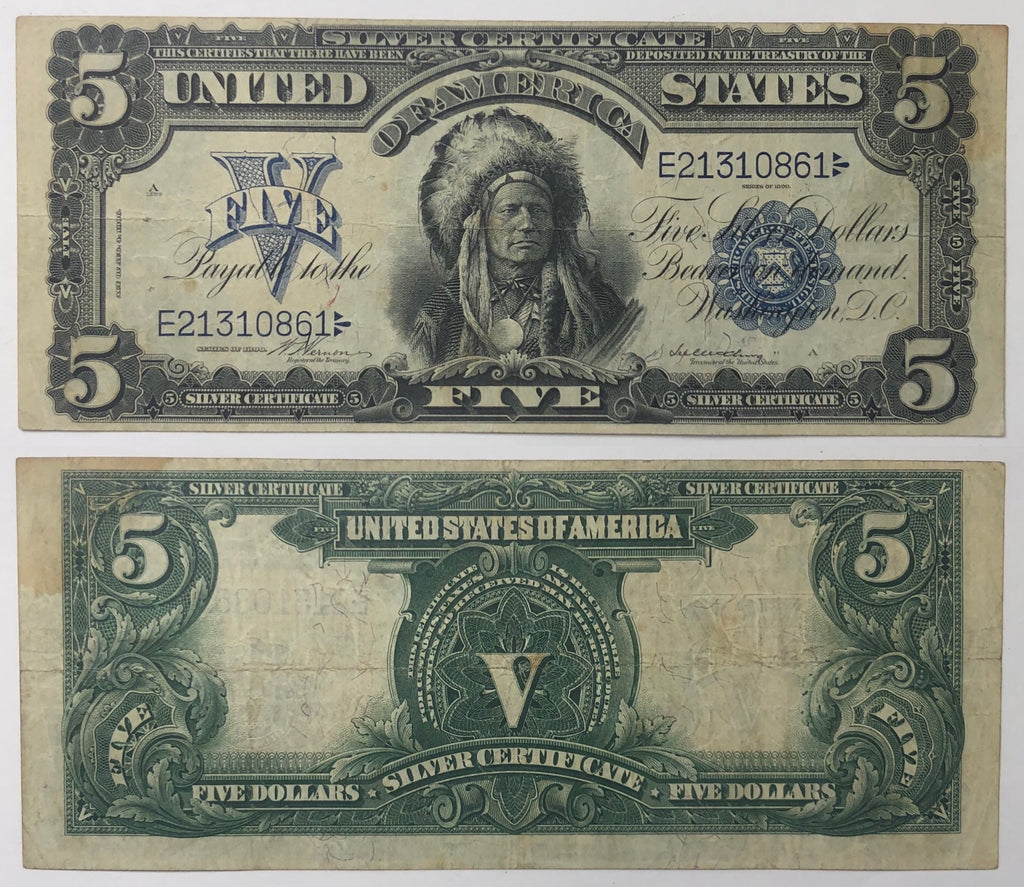 "1899 $5 ""Chief"" Silver Certificate"