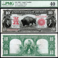 "1901 $10 ""Bison"" Red Seal Legal Tender Note"