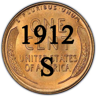 1912-S Lincoln Wheat Cent