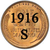 1916-S Lincoln Wheat Cent