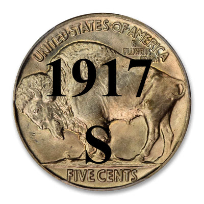 1917-S Buffalo Nickel