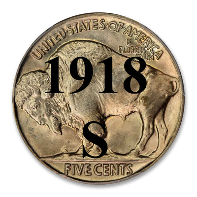 1918-S Buffalo Nickel