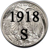 1918-S Walking Liberty Half Dollar