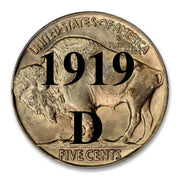 1919-D Buffalo Nickel