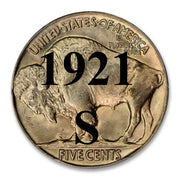 1921-S Buffalo Nickel