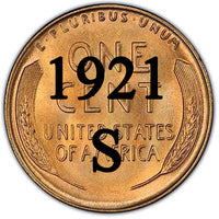 1921-S Lincoln Wheat Cent