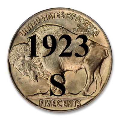 1923-S Buffalo Nickel