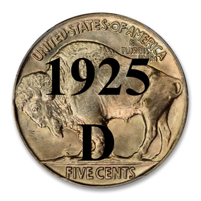 1925-D Buffalo Nickel
