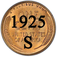 1925-S Lincoln Wheat Cent