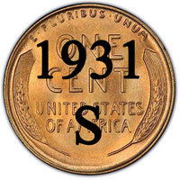 1931-S Lincoln Wheat Cent KEY DATE