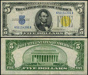 "1934 $5 World War II ""North Africa"" Silver Certificate"
