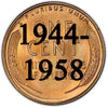 1944-1958 UNC RED Lincoln Wheat Cent