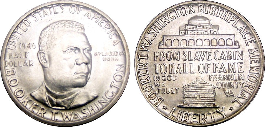 1946-51 Booker T Washington Commemorative Half Dollar