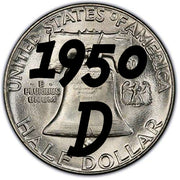 1950-D Franklin Half Dollar