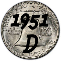 1951-D Franklin Half Dollar