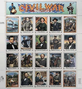 "1994 Civil War ""War Between the States"" Stamp Sheet"
