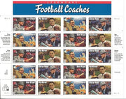 "1996 Grid-Iron Classics ""Legendary Football Coaches Stamp Sheet"