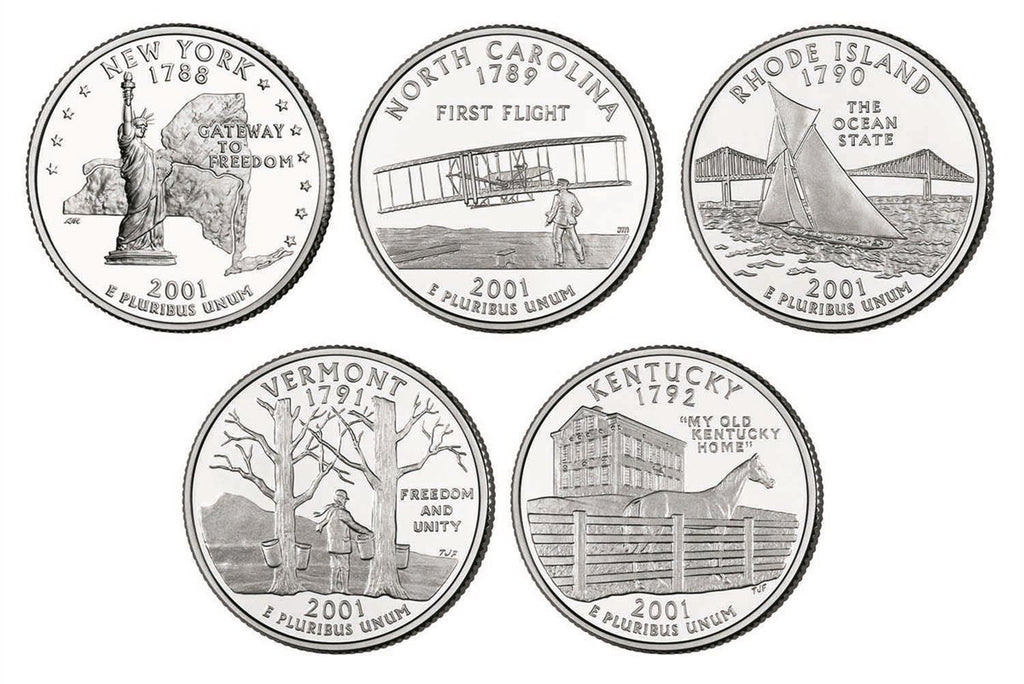 2001 State Quarters, Uncirculated